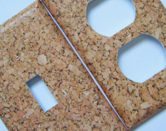 Cork Light Switch Cover Outlet Cover Switchplates