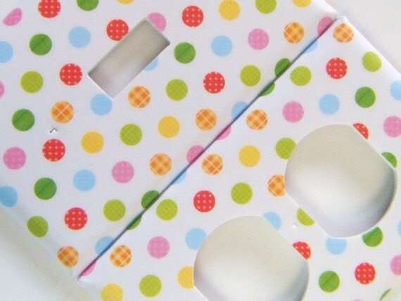 Switchplate Light Switch Cover Outlet Cover Multi-Patterned Polka Dots