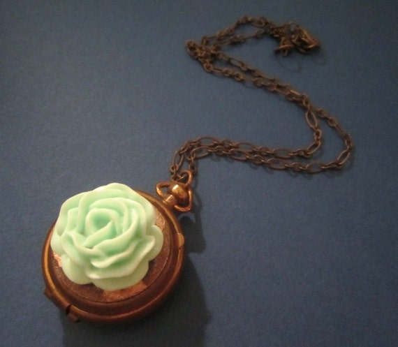 Secrets --One of a Kind Reclaimed Pill Box Necklace