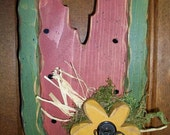 Watermelon Slice Wood Door Hanger, Sunflower, Summer, Primitive, Greeter, Home Decor, Daisy