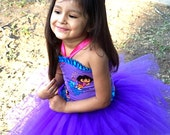 Dora Birthday Corset tutu Dress Up outfit custom sized 12 2t 3t 4t 5t