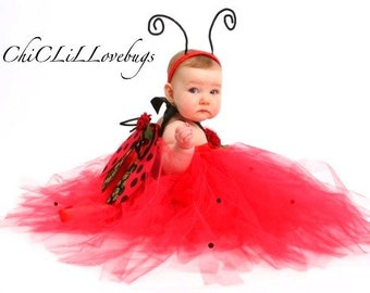 LadyBug  tutu dress baby size 12 18 months 2t 3t 4t Halloween costume