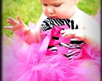 Weekend sale Cute Pink top and Tutu Set  sizes 12 months thru 12 - 18 months Christmas colors