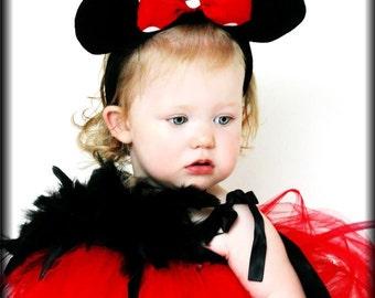 Custom Minnie Mouse Halloween Tutu Dress sizes 12 months 6-9 18 2t 3t 4t 5t