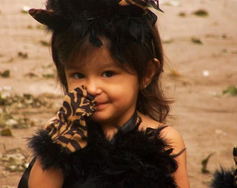Perrrtty Kitty Leopard Tiger tutu dress Halloween Costume, Sooooo Cute sizes 12 months to 6 girls