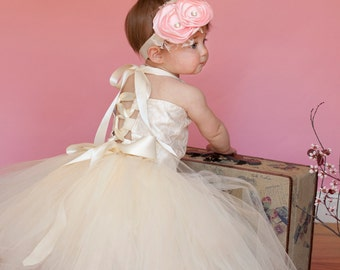 Weekend sale Lace Satin Bodice top and tutu flower girl dress set sizes 12 months 2t 3t 4t 5t 6 girls Christmas colors available