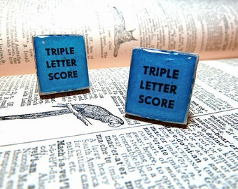 Triple Letter Score Repurposed  Scrabble Tile Cuff Links