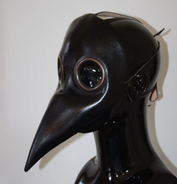 Midi Black Doctor Plague Leather Mask