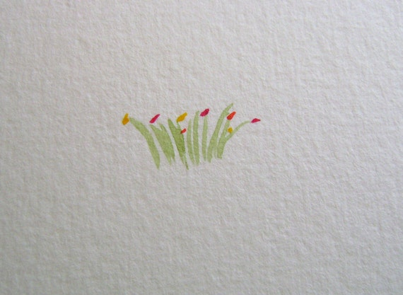 Spring Garden hand painted card