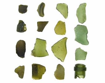 Olive Green Sea Glass - 12 x 12 beachcombing photograph - emerald beach glass
