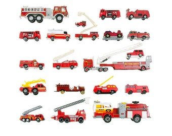 Toy Firetruck Collection - 8x8 photograph - fire trucks