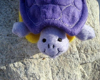 Turtle, Soft, Plush, Purple
