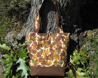 Tote Bag/Autumn Leaves/Large Tote Bag/Fall Tote Bag/Fall Leaves