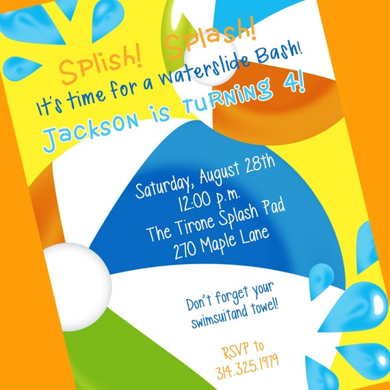Swim Party Invites as perfect invitations example
