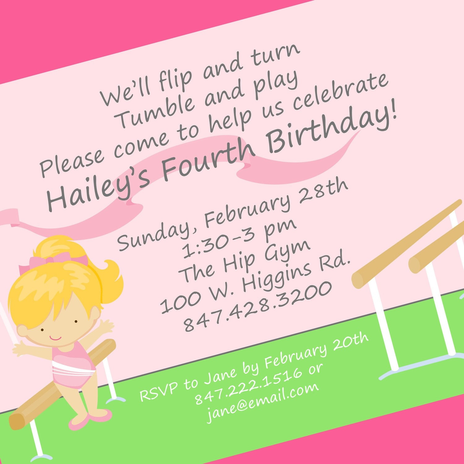 Gymnastics Invitations for luxury invitation layout