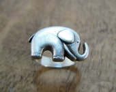 Elephant Ring Antiqued Silver Adjustable Animal Ring Jewelry
