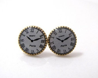 Paris Clock Face Earrings