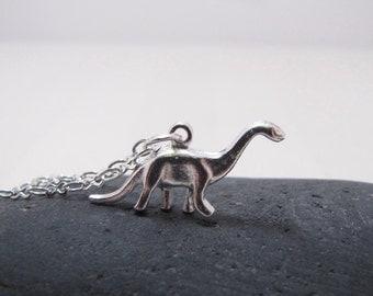 Dinosaur Necklace Brontosaurus Jewelry RAWR