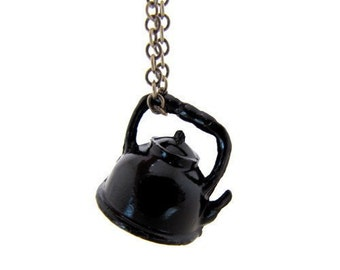 Tea Pot Necklace Calling The Kettle Black