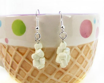 Miniature Marshmallows Earrings