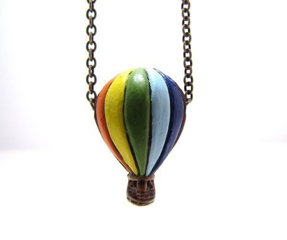 Hot Air Balloon Up Up And Away Necklace