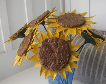 How to Make Paper Mache Sunflowers E-book