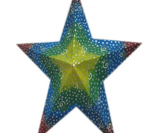 Pattern for a 5 Point Star from paper mache