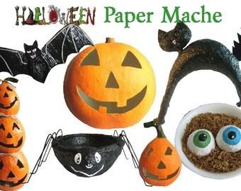 Halloween Paper Mache E book