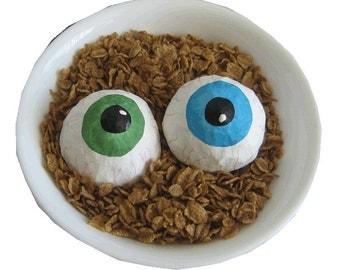 Pattern for Big Creepy Eyeballs Paper Mache Decoration