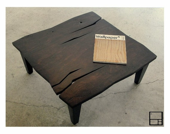 MSTRF  AD Rustic  Modern Rustic Distressed Coffee Table
