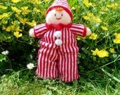 PDF Knitting Pattern - Clown