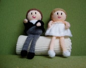 Custom Made Bride and Groom Wedding Toppers