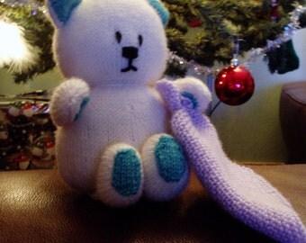 PDF Knitting Pattern - Blanket Bear