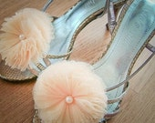 Soft Cream bloom Layered Tulles shoe clips