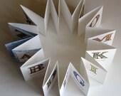 Miniature artist's book A-Z of Flora Alaphabet