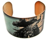 cuff bracelet PEACOCK Vintage style brass or stainless steel Gifts for her