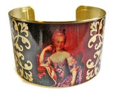 Marie Antoinette cuff bracelet brass or stainless steel Free Shipping to USA Gifts for her