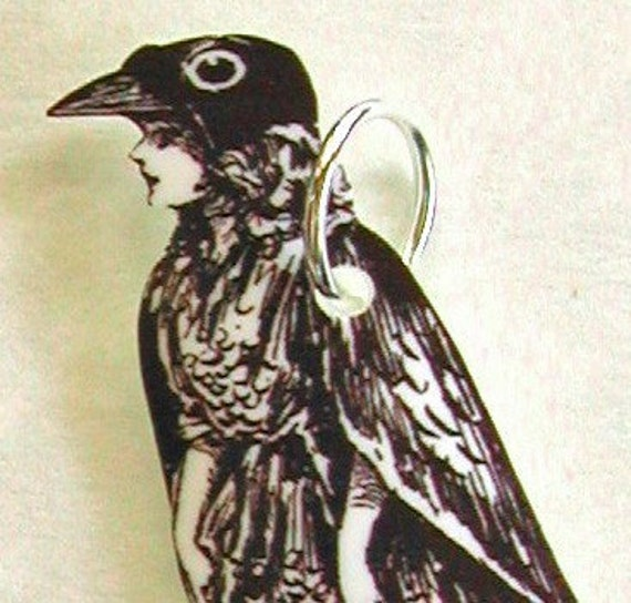 CROW GIRL Necklace Small Pendant