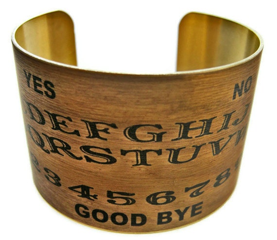 Ouija Board cuff bracelet Halloween jewelry brass or stainless steel Gifts for her