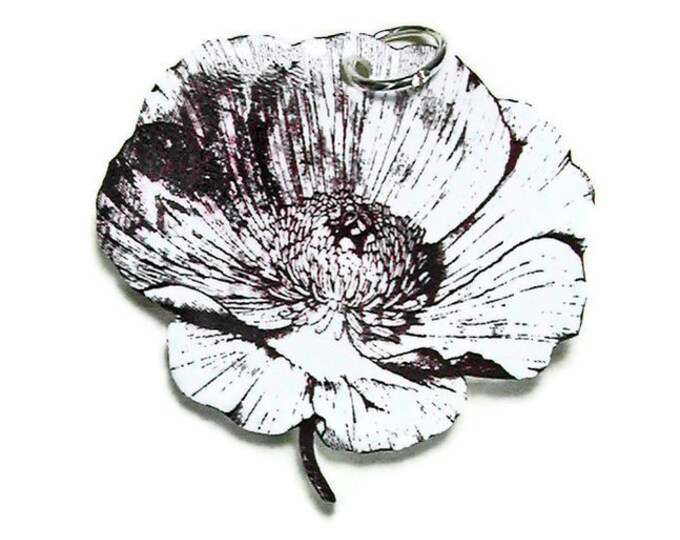 WILD POPPY Necklace Small Pendant Gifts for her