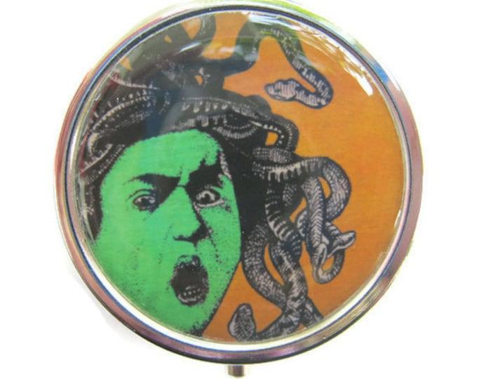 Medusa Pill Box Stash Case Silver