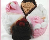 TEA CAKES - PDF Felt Food Pattern (German Chocolate, Black Forest, White, Confetti, Strawberry, Triple Layer, Cake Stand)
