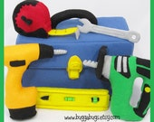 POWER TOOLS - PDF Pattern (Tool Box, Power Drill, Jig Saw, Tape Measure, Wrench, Level)