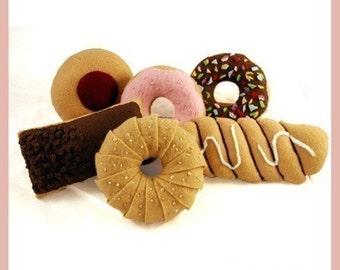 DOUGHNUTS - PDF Felt Food Pattern (6 Delicious Doughnuts)