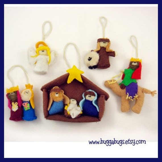Jesus Ornaments Jesus Ornament Designs: Nativity Ornaments PDF Pattern Baby Jesus Mary By BuggaBugs