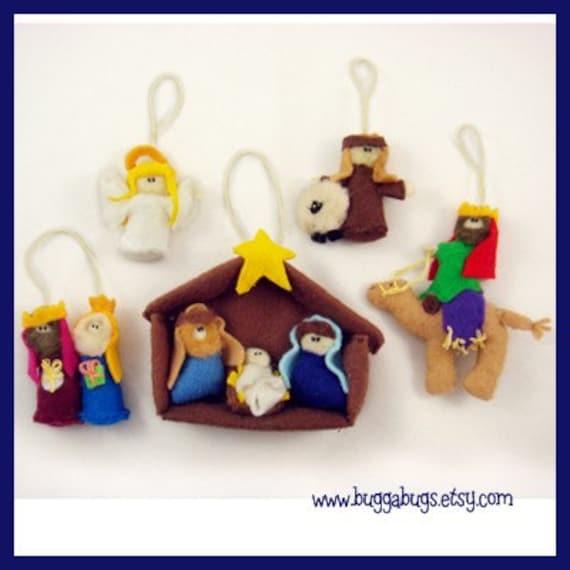 Nativity Ornaments - PDF Pattern (Baby Jesus, Mary, Joseph, Shepherd ...