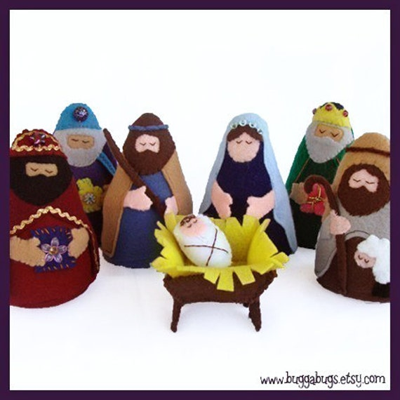 NATIVITY - PDF Doll Pattern (Joseph, Mary, Jesus, Wise Men, Shepherd, Manger)