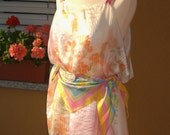 Vera Ladybug Scarf Print Tunic Dress
