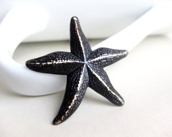 Chocolate Brown Patina Starfish Charm