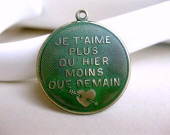 French Pendant, Green Patina